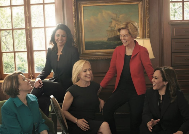Female presidential candidates pose for Vogue shoot