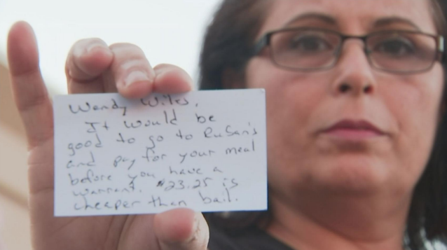 Woman says she was fired after forgetting to pay $23 restaurant bill