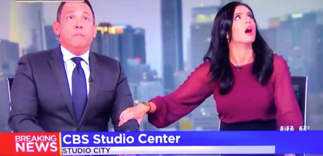 Terrifying Moment Newscast Is Interrupted By Southern California Earthquake