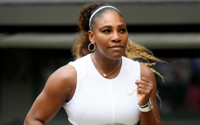 Serena Williams dispatches Julia Goerges in straight sets to reach round four at Wimbledon