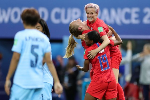 The U.S. womens national team opened World Cup play on Tuesday in dominant, historic fashion.  Their 13-0 victory over Thailand was a record margin for the Women World Cup and cause for elation for the team and its fans. Alex Morgan individual tally of five goals tied a tournament record.