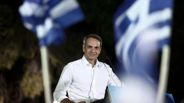 Greek Opposition Leader Mitsotakis Seals Sweeping Election Win