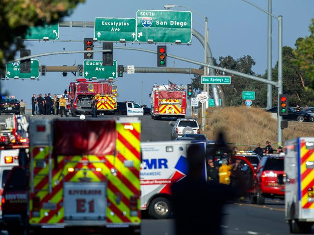 California Highway Patrol officer killed, 2 others injured in Riverside shootout; suspect dead