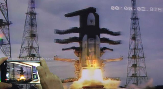 India launches historic flight bound for the moon