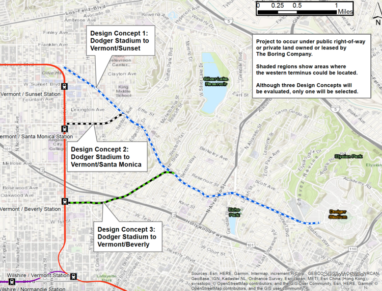 Elon Musk Boring Company proposes one-way, 3.6 mile tunnel to Dodger Stadium