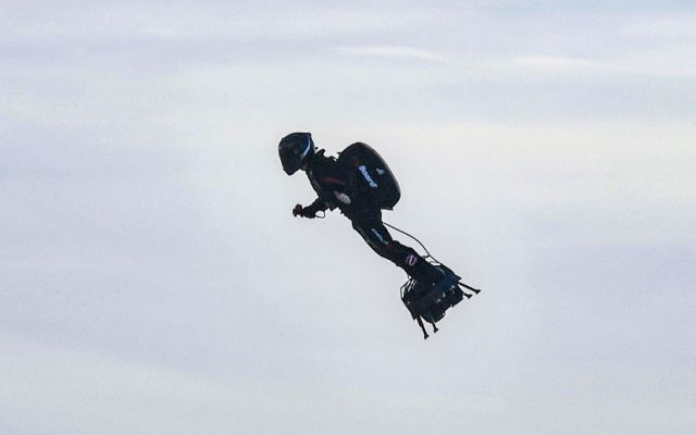 French inventor Franky Zapata has successfully crossed the English Channel on a jet-powered hoverboard