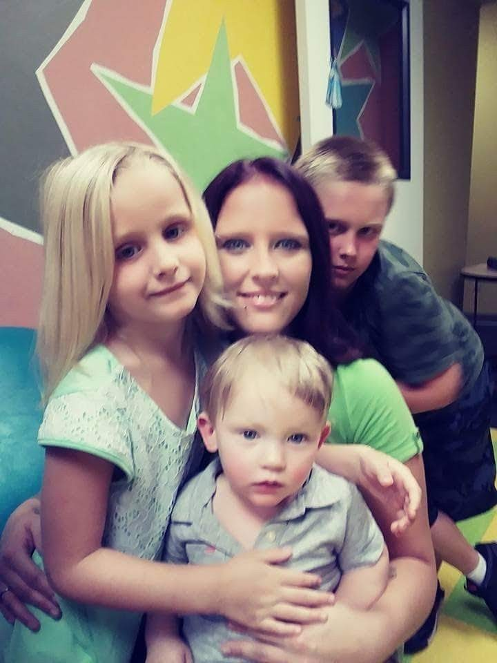 My 3 babies and I at our visitation