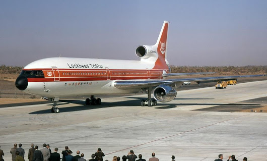 First flight of the Lockheed L-1011 TriStar.
