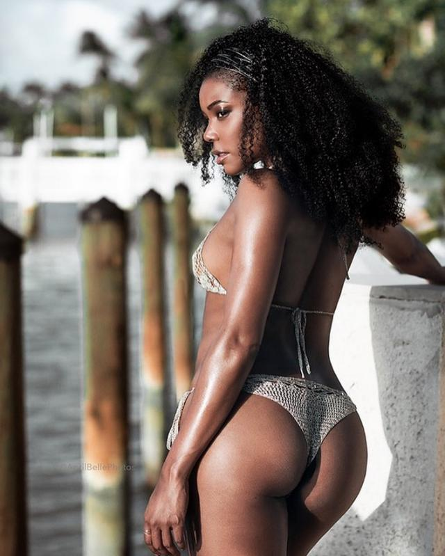 Gabrielle Union Shows Off Her Body in Cheeky Thong Bikini