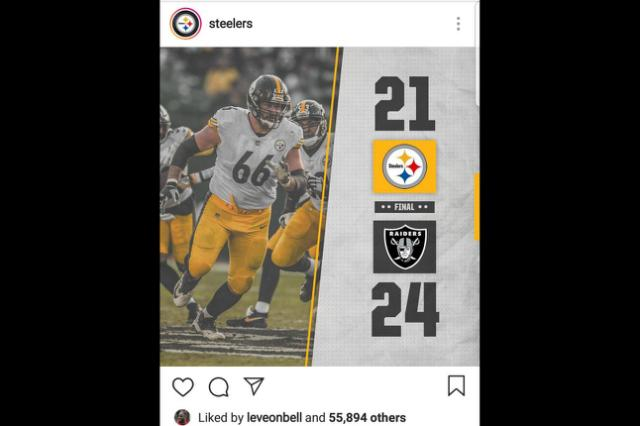 Le'Veon Bell celebrates Steelers' shocking loss to Raiders