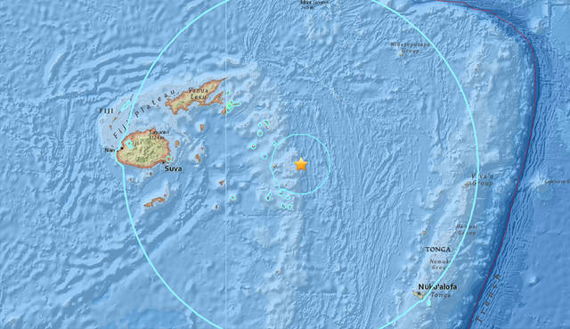 No tsunami threat to Hawaii following major Fiji 8.2 magnitude earthquake