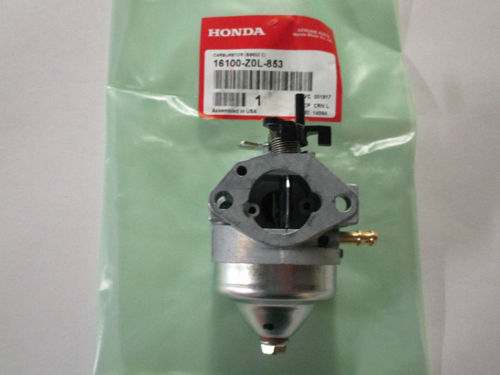 BB62Z C Genuine OEM Honda 16100-Z0L-853 CARBURETOR