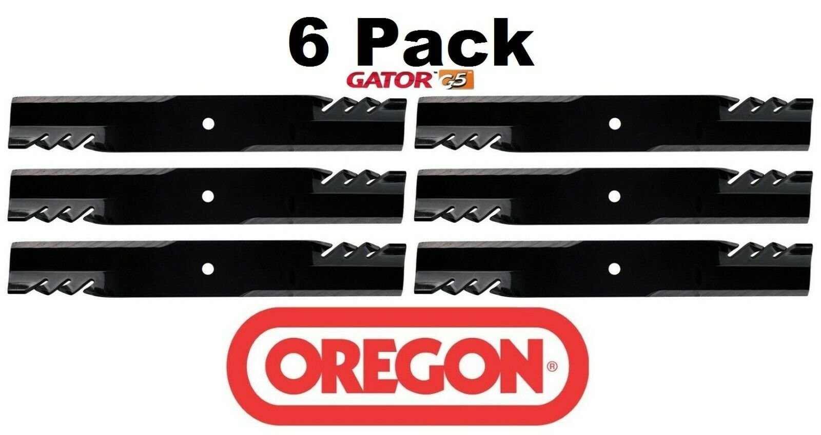 3 Pack Oregon 396-712 G6 Gator Mulch Blade Fits 320242 320243 320244 320245