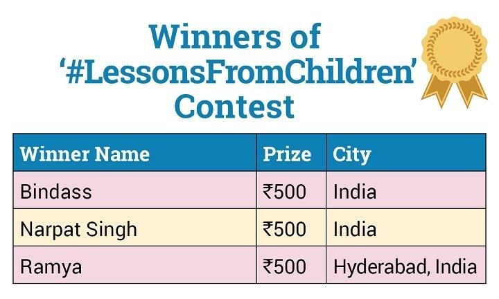 ParentCircle Announces Winners of the #LessonsFromChildren Contest