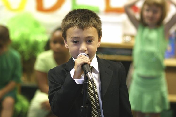 Encouraging public speaking in children
