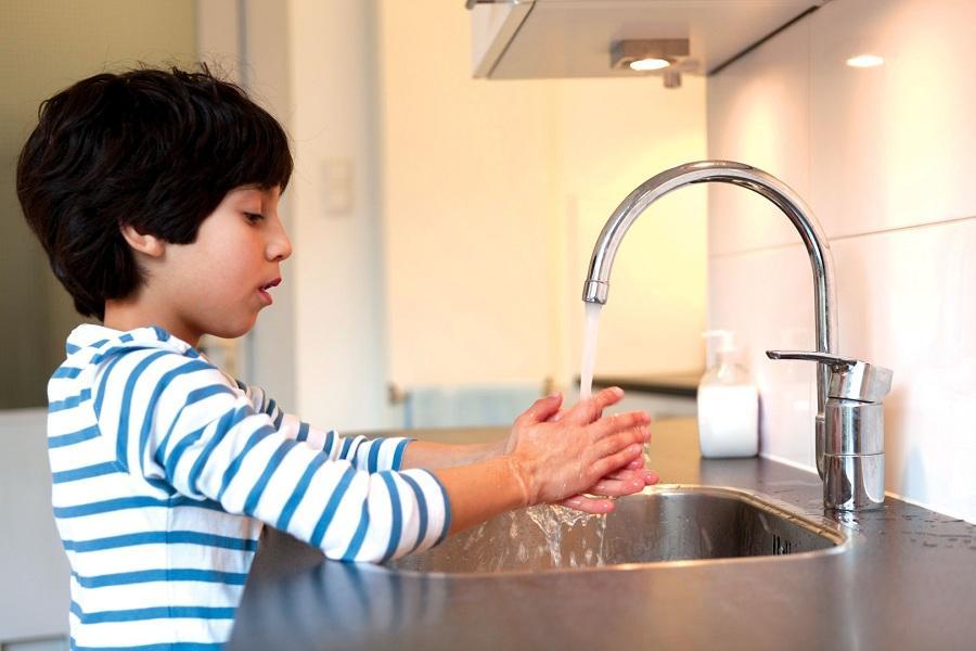 Habit of washing hands