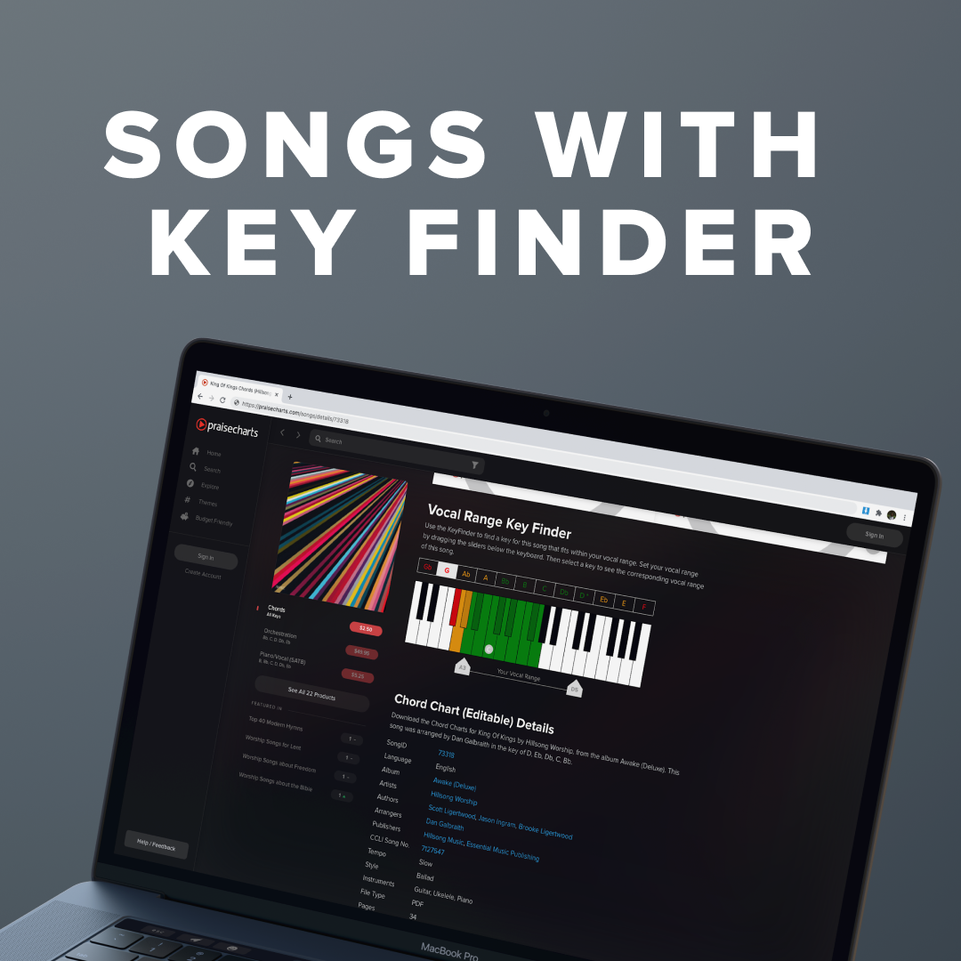 Top Songs with the Key Finder Activated
