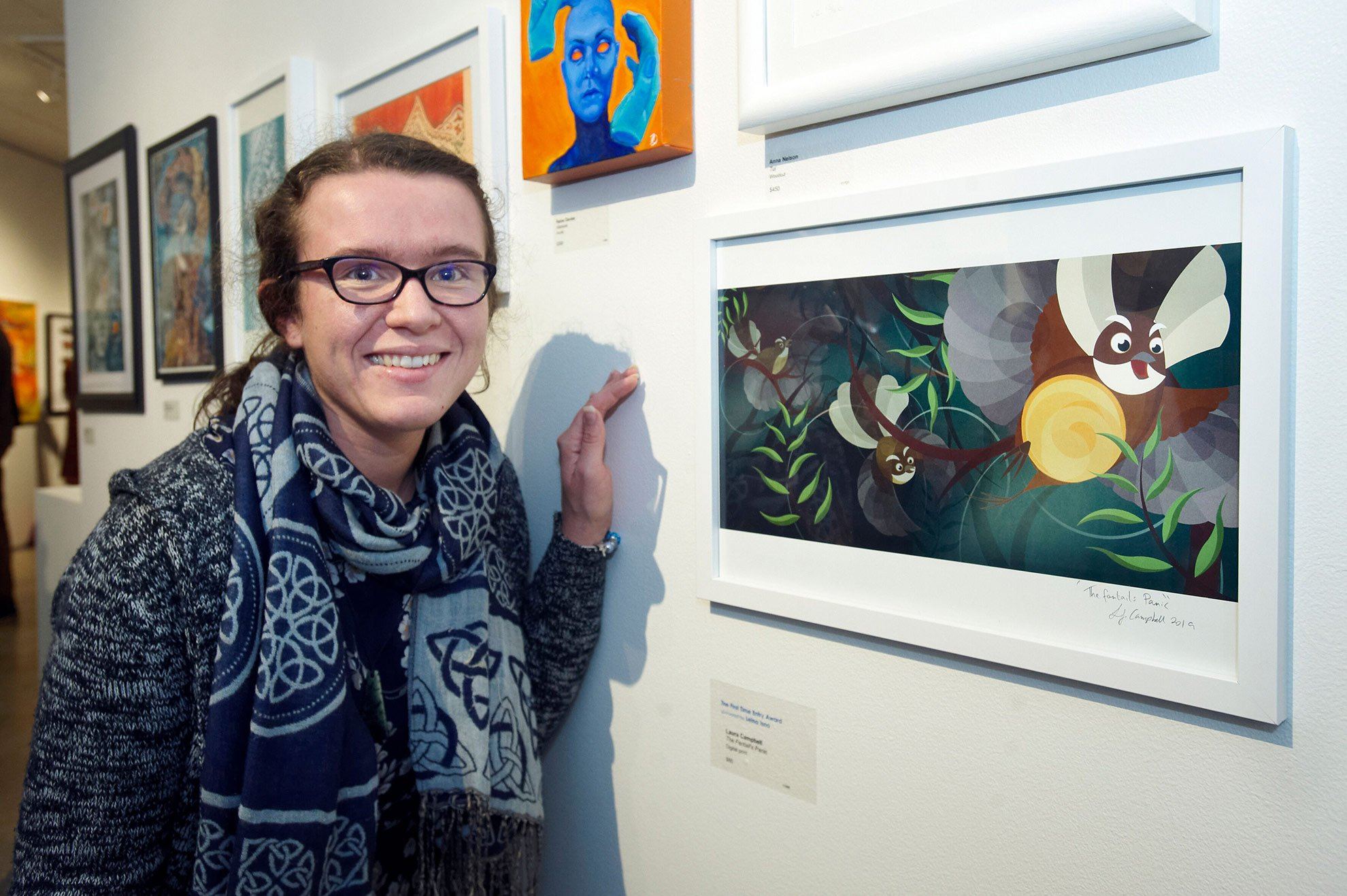 2019 Pātaka Friends Art Awards First Entry Award Winner Laura Campbell