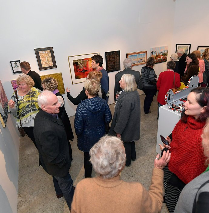 Everyone is excited to see the new works at Friends Art Awards show