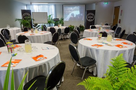 Helen Smith Community Meeting room setup for sit down event