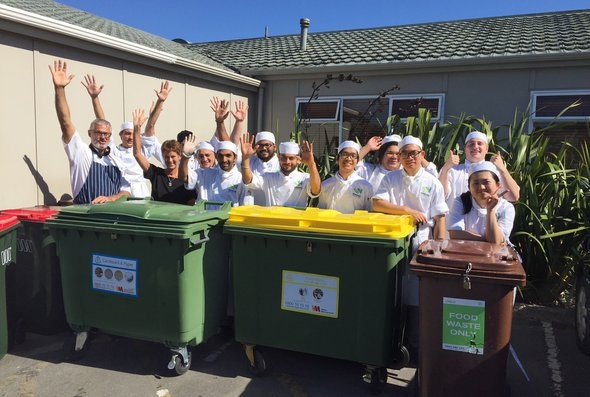 Weltec and Whitirea staff work to reduce waste