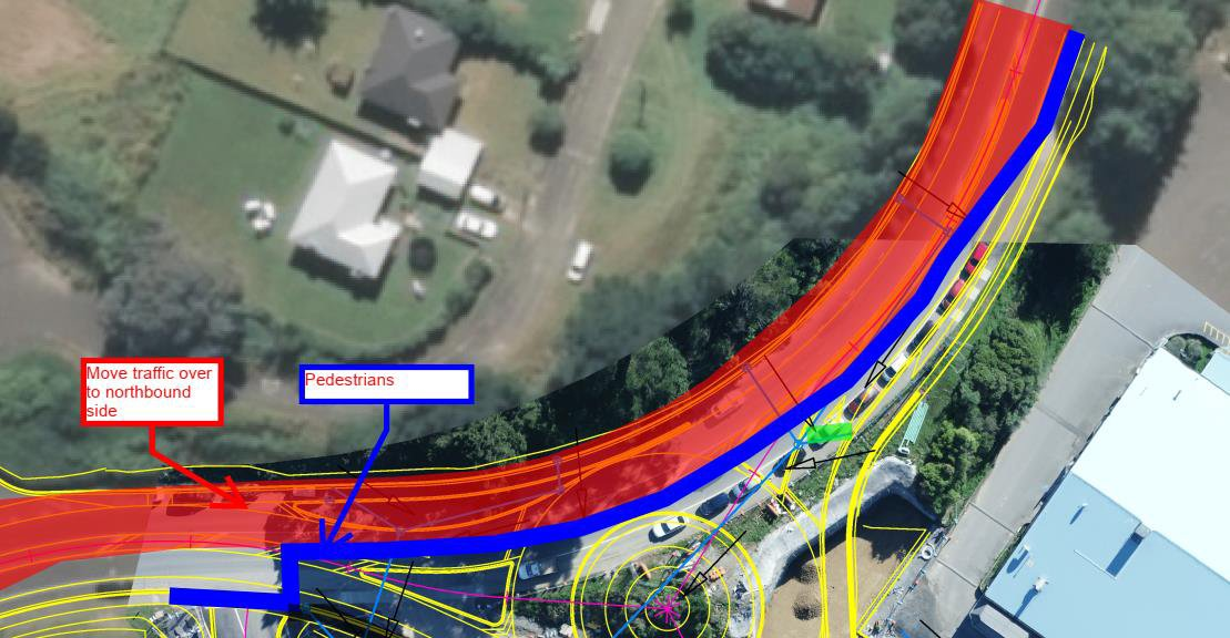 kenepuru drive TG interchange transport management graphic