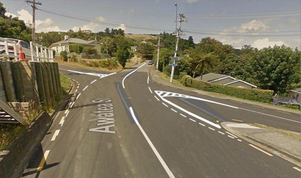 Awatea & Arawhata Street Intersection Street View