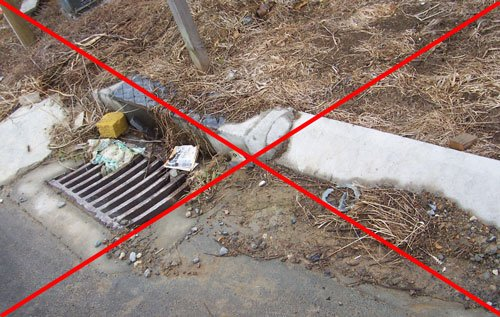 Silt and Sediment Control - Open Stormwater Drains - 12-grill
