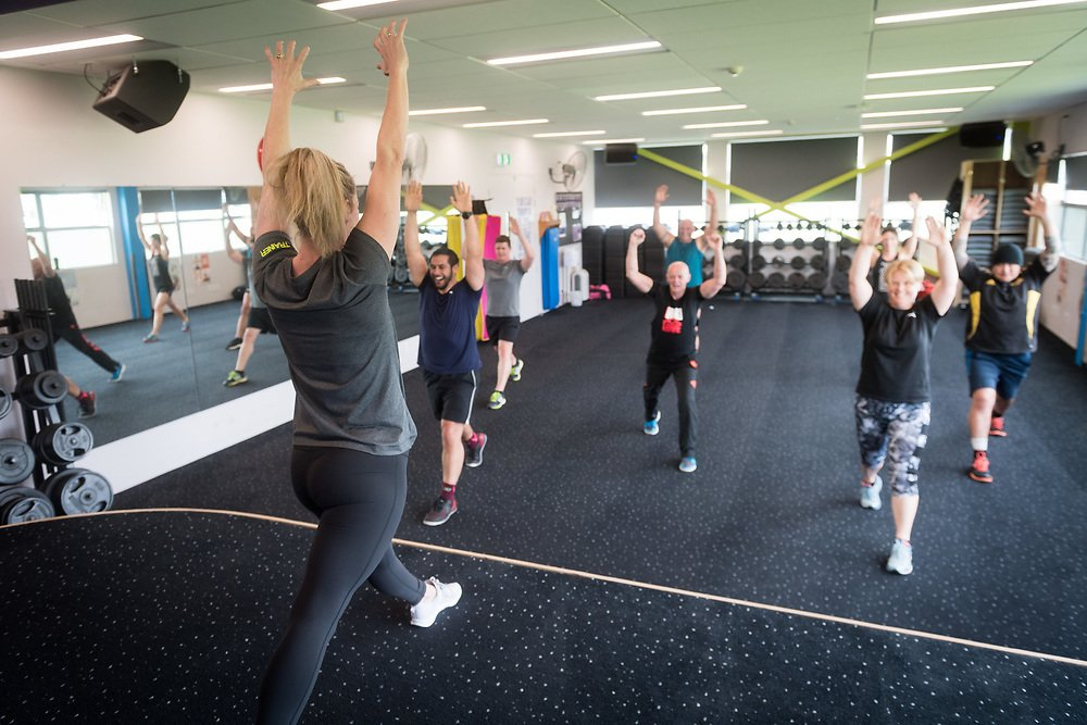 fitness, group, arena