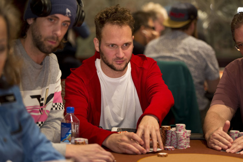 Calvin Anderson looks for his first WPT title bagging the chip lead after Day 2. (Photo courtesy of the World Poker Tour)