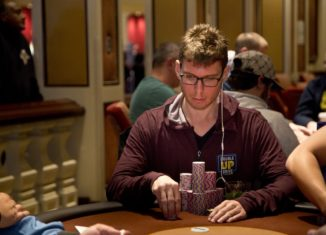 Andrew Lichtenberger remains in contention for his first WPT title. (Photo courtesy of the WPT.)