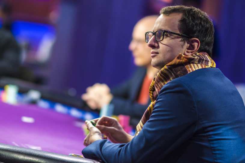Rainer Kempe in action during the Super High Roller Bowl earlier this year at the PokerGO Studio.