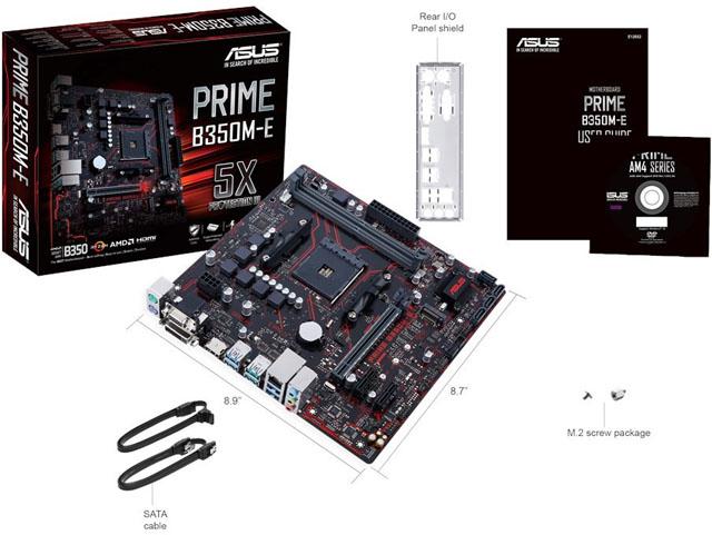 Asus Prime B350M-E: cenově dostupná micro-ATX deska s paticí AM4