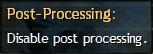 Post-Processing High (po najetí myší se zobrazí None)