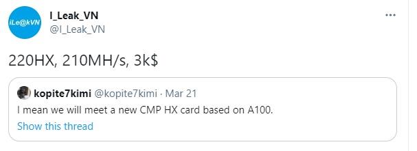 Nvidia CMP 220HX bude Ethereum těžit výkonem 210 HM/s