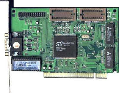S3 Trio 64 V2- zdroj: http://hardware.mydrivers.com/ -