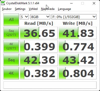 CrystalDiskMark 5.1.1