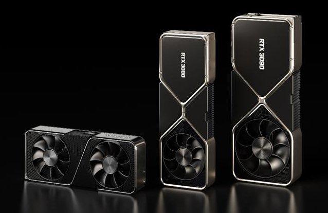 GeForce RTX 3090, 3080, 3070 (zdroj: Nvidia)