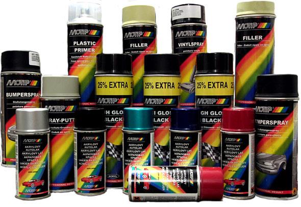 Značek sprejů je řada, a různých typů a barev ještě víc.