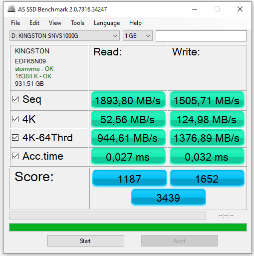 Výkon SSD disků