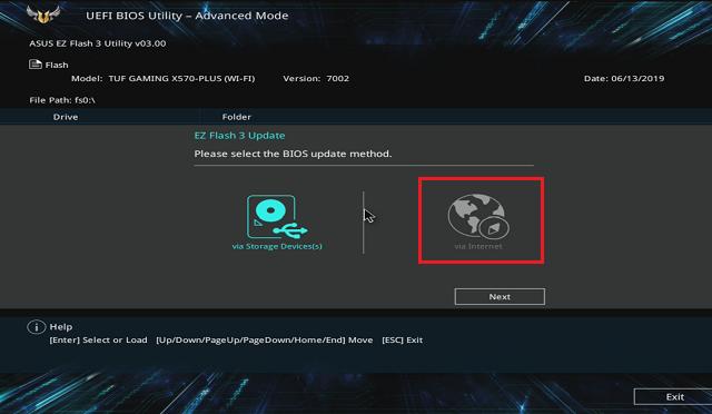 Chcete najít BIOS na internetu, nebo z FLASH disku?