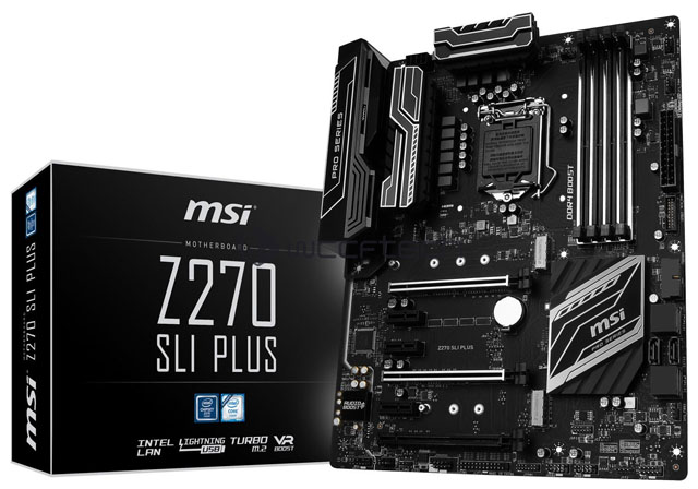 První snímky a specifikace základních desek MSI s čipsetem Z270 jsou venku