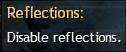 Reflections All (po najetí myší se zobrazí None)