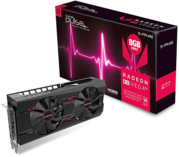 Grafická karta AMD Radeon RX Vega 56 – Sapphire Radeon Pulse RX VEGA 56 8G HBM2