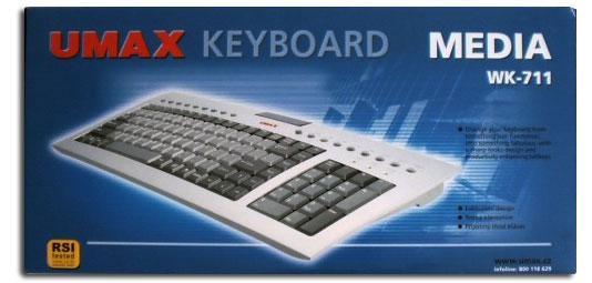 UMAX WK-711: Miss klávesnice