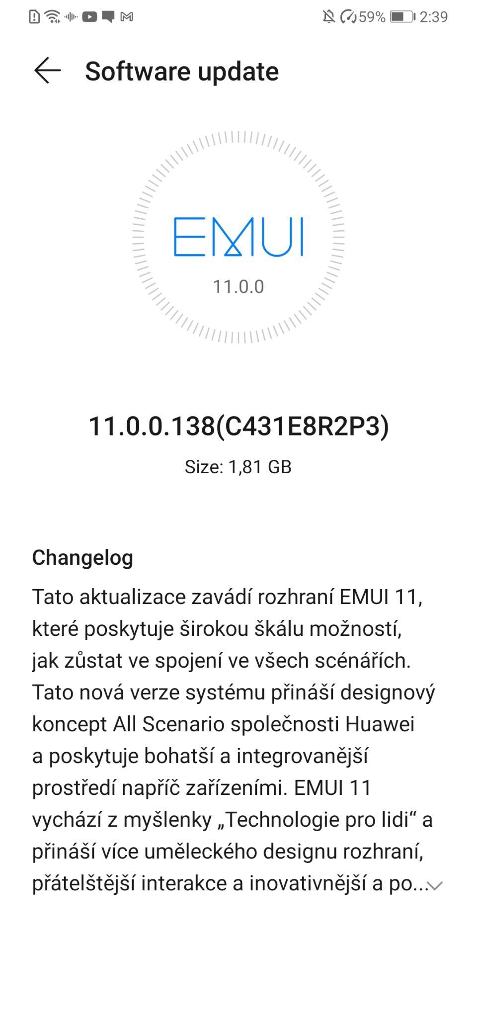 Huawei P30 a P30 Pro v Česku získávají nadstavbu EMUI 11
