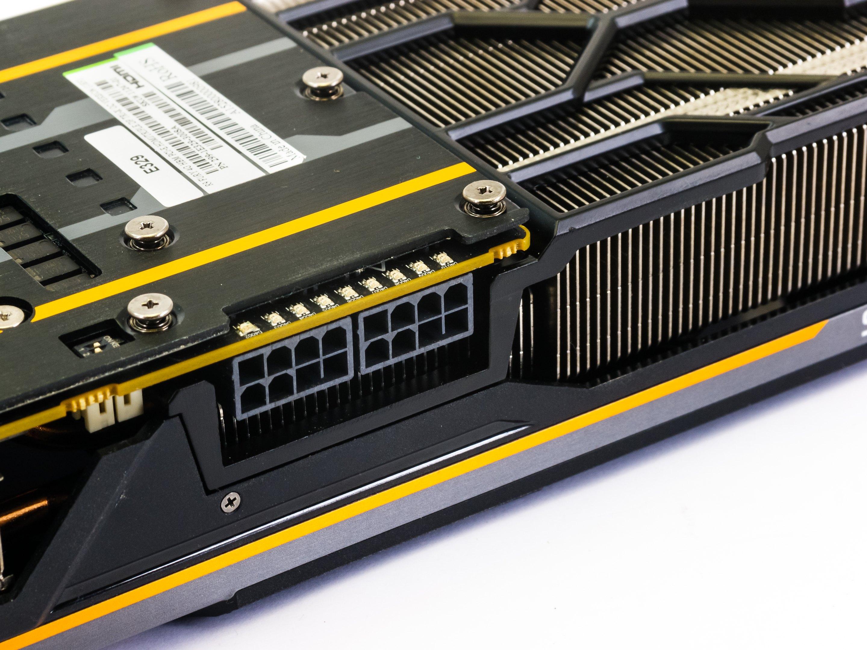 Diagnostické LED u předchozího modelu Sapphire Tri-X Radeon R9 Fury