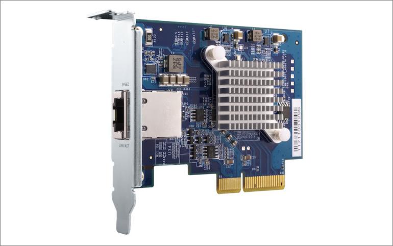 QNAP představil pětirychlostní 10GBASE-T síťovou kartu