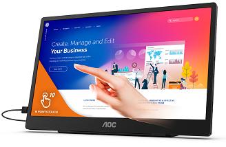AOC nabídne nový 15,6palcový přenosný monitor na cesty