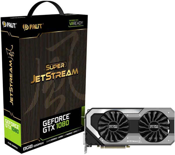 Grafická karta nVidia GeForce GTX 1080 – PALiT GeForce GTX 1080 JetStream 8GB